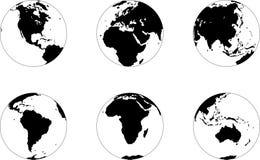 Fases do globo ilustração stock