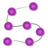 7 fases em 3d circundam o infographics no EPs ilustração royalty free