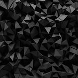 Fasetterad bakgrund 3D för svart Royaltyfria Bilder