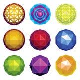 fasetterade glansiga spheres för färg Royaltyfria Foton