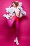 Fashin Clown. Beauty face. Stock Photos