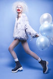 Fashin Clown. Beauty face. Royalty Free Stock Photography