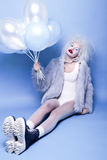 Fashin Clown. Beauty face. Stock Image
