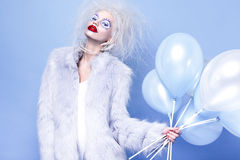 Fashin Clown. Beauty face. Stock Images