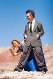 Fashinable attractive couple Stock Photo