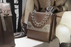 Fashiom bag. Fashion luxury  showcase display shopping retail Stock Photos