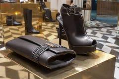 Fashiom bag. Fashion bag  showcase display shopping retail luxury Stock Photo