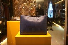 Fashiom bag. Fashion bag  showcase display shopping retail luxury Stock Image