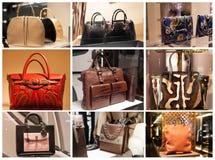 Fashiom bag. Fashion store  showcase display shopping retail luxury Stock Photo