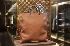 Fashiom bag. Fashion store  showcase display shopping retail luxury Stock Images