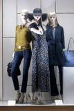 Fashiom  retail display. Fashion  display mall retail shopping luxury gift window showroom Stock Photo