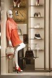 Fashiom  retail display. Fashion  display mall retail shopping luxury gift window showroom Royalty Free Stock Photo