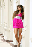 Fashion. Young beautiful woman in an dress Royalty Free Stock Photography