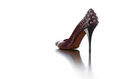 Fashion. Woman shoes isolated on white background stock image