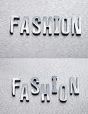 Fashion. Is for designer use metal word Fashion vector illustration