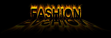 Fashion. Word in fire background Stock Illustration