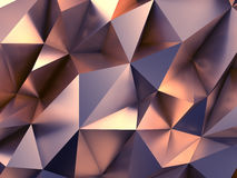 Fashion Abstract Background 3D Rendering. Elegant Polygonal Metal Shape with Lovely Reflections 3D Illustration Royalty Free Stock Photos