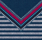 Fashion abstract background. Vector drawing handsome striped neck sweater, seamless pattern Royalty Free Stock Photography