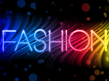 Fashion Abstract Colorful Waves vector illustration