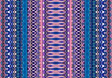 Fashion abstract seamless striped pattern. Oriental vector background in blue and pink tones. Stock Photography