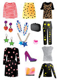 Fashion and accessories Stock Images