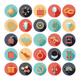 Fashion accessories flat icons Royalty Free Stock Photo