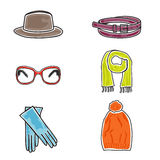 Fashion accessories icon set Stock Photo