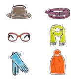 Fashion accessories icon set. Vector illustration of fashion accessories on white background Stock Photo