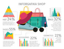 Fashion Accessories Infographic Stock Photos