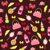 Fashion accessories seamless pattern Royalty Free Stock Photos