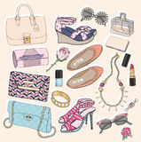Fashion accessories set Royalty Free Stock Photo