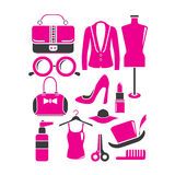 Fashion accessories set Stock Photography