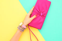 Fashion Accessories Set. Outfit. Minimal Style Stock Photo