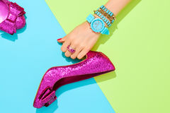 Fashion Accessories Set. Outfit. Minimal Style Stock Image