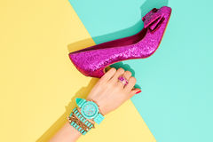 Fashion Accessories Set. Outfit. Minimal Style Royalty Free Stock Photography