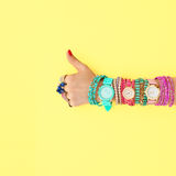 Fashion Accessories Set.Outfit.YES Gesture.Minimal Royalty Free Stock Images