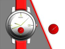 Fashion Accessories, watch design for career line. royalty free stock image