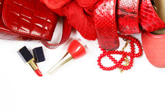 Fashion accessories for women Stock Image