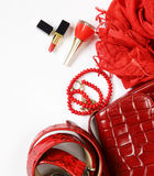 Fashion accessories for women Royalty Free Stock Images