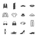 Fashion and accessory icons Stock Photography