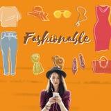 Fashion Apparel Garment Design Graphic Concept Stock Photography