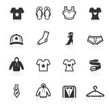 Fashion & Apparel Icons - minimo series. Fashion and apparel vector  icons set isolated over white background - minimo series Stock Photography