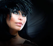 Fashion Art Girl Portrait stock image