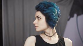 Fashion Art Girl Portrait. Punk Style.