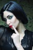 Fashion art girl portrait.Vamp style. Glamour vampire woman.Studio shot Stock Images