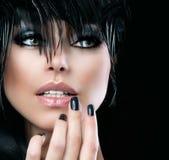 Fashion Art Portrait. Of Beautiful Girl. Vogue Style Woman Royalty Free Stock Image