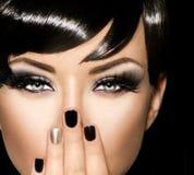 Fashion art portrait of beautiful girl. Vogue style woman Royalty Free Stock Photo