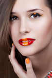 Fashion Art Portrait Of Beautiful Girl. Royalty Free Stock Photo