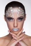 Fashion art style make up on glamour woman Stock Image
