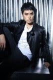 Fashion Asian man model Royalty Free Stock Images